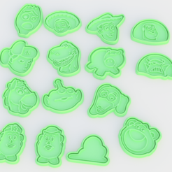 Screenshot_1.png Download STL file Toy story cookie cutter set of 15 • Design to 3D print, roxengames