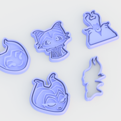 Download STL file Maleficent cookie cutter set of 5, roxengames