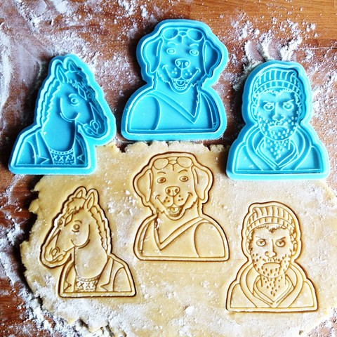 STL BoJack cookie cutters set of 3, roxengames