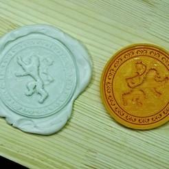 GOT6.jpg Télécharger fichier STL Jeu de Thrones Cookie Cutter. Maison Lannister • Design imprimable en 3D, roxengames