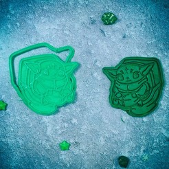 Download 3D printing designs Baby Yoda Mandalorian in the toilet cookie cutter, roxengames