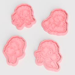 Télécharger plan imprimante 3D Cupidon de la Saint-Valentin : 4 biscuits à l'emporte-pièce, roxengames