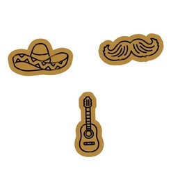 Download 3D printer files Mexican cookie cutter set of 3, roxengames