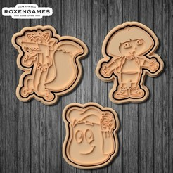 Download 3D printer files Dora and Friends cookie cutter set of 6, roxengames