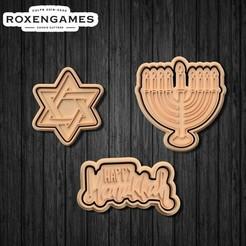 Télécharger fichier 3D Couteau à biscuits Hanukkah Set de 3, roxengames