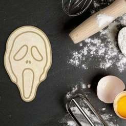 Download 3D printer templates Halloween Scream Mask Cookie Cutter, roxengames