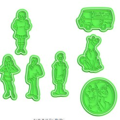Download STL file Scooby Doo cookie cutter set of 7 • 3D printing model, roxengames