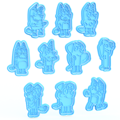 Screenshot_3.png Download STL file Bluey cartoon cookie cutter set of 10 • 3D printing model, roxengames