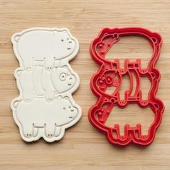 Download 3D printing designs Tower of bears cookie cutter | We Bare Bears, roxengames
