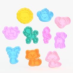 Screenshot_1.png Download STL file Animals cookie cutter set of 10 #2 • 3D print design, roxengames