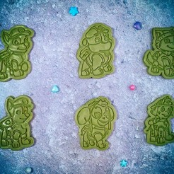 S0417378.jpg Download STL file Paw Patrol cookie cutter set of 6 • 3D print template, roxengames