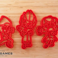 Download STL file PJ Masks villains cookie cutter set of 3 • 3D printable design, roxengames