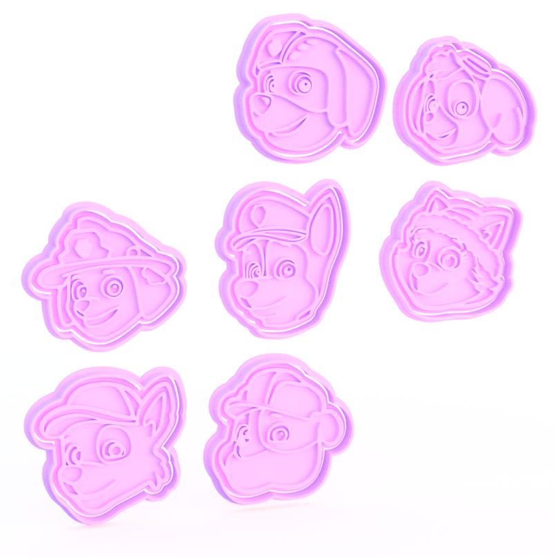 Screenshot_2.png Télécharger fichier STL Ensemble de 7 biscuits à l'emporte-pièce Paw Patrol • Design imprimable en 3D, roxengames