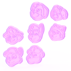 Screenshot_2.png Download STL file Paw Patrol cookie cutter set of 7 • 3D printer template, roxengames
