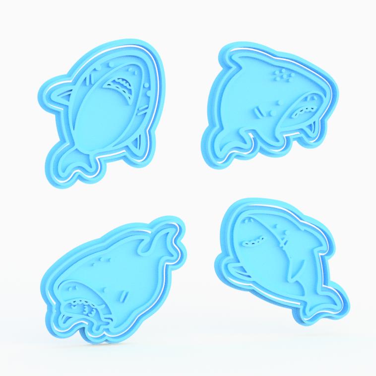 Shark 100 Cookie Cutter Set