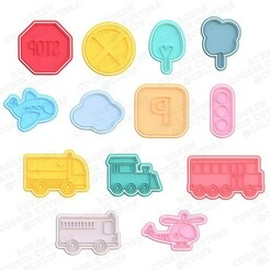 1.jpg Download STL file City cookie cutter set of 13 • 3D printer template, roxengames