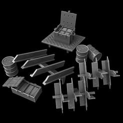 Descargar diseños 3D fences futuristic apocalypse, 3DForge