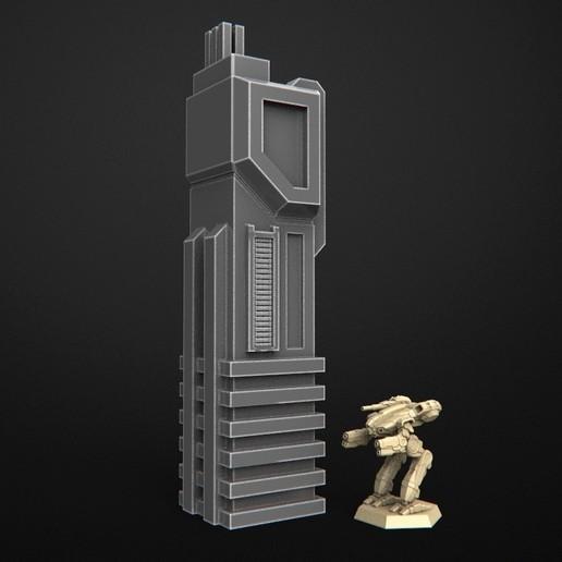 Download free 3D printer designs Sci-Fi City Cityscape, 3DForge