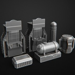 Download 3D printing designs Arcade Retro + Mission Set, 3DForge