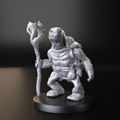 3D print model sorcerer turtle, kinower