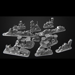 Download 3D printer files fences futuristic apocalypse warhammer 40k, 3DForge