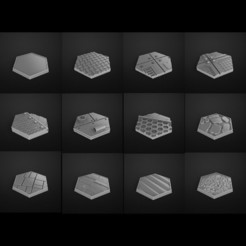 Download STL files hexagonal bases 28mm, 3DForge