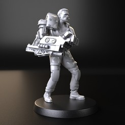 Download 3D printing files Dutch Linn. arnold schwarzenegger, Alien versus Predator, 3DForge