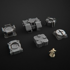 3D printer files terrain futuristic warhammer battletech 7mm, 3DForge
