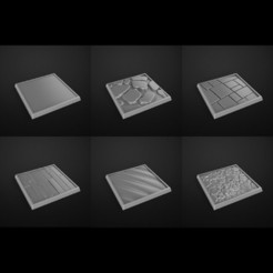 Download STL files square bases 28mm, 3DForge