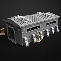 2018-06-L-2.jpg Télécharger fichier STL Ensemble cyberpunk de banlieue - Bâtiment • Modèle pour imprimante 3D, 3DRune