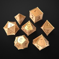 Download free 3D printing templates Dice round fill, Dados filo redondo, 3DForge