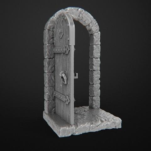 Free 3D printer designs Dungeon Doors, 3DForge