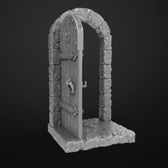 Download free 3D printer templates Dungeon Doors, 3DForge