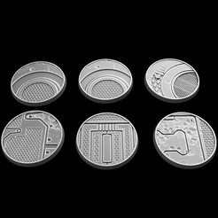 Download STL files circular bases 28mm, 3DForge