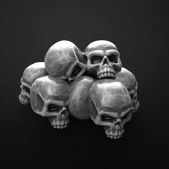 Descargar modelos 3D gratis montaña de huesos, 3DForge