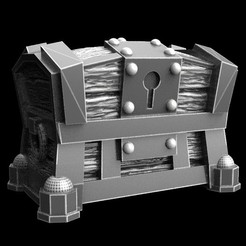 Download free 3D model treasure chest, 3DForge