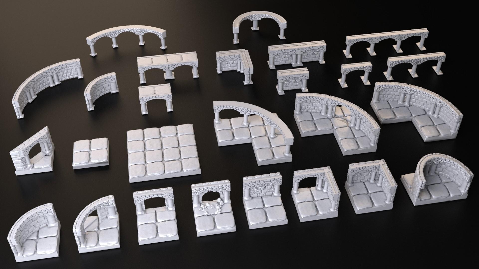 OpenForge.jpg Download free STL file Dungeons Tile • 3D print design, 3DRune