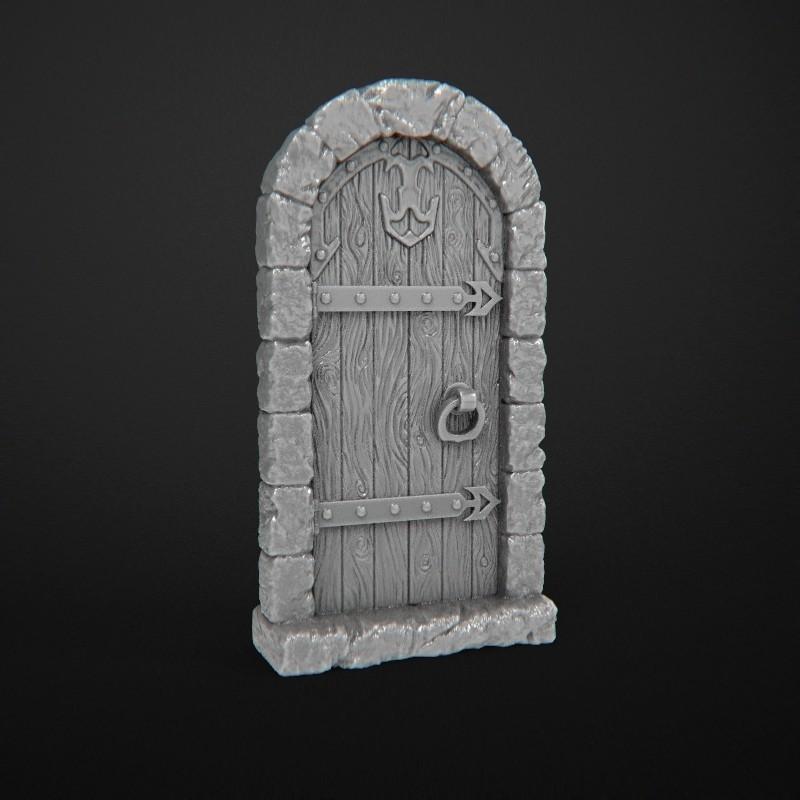 wooden_door_no_flares.JPG Télécharger fichier STL gratuit Portes Donjon (Fermer) • Design à imprimer en 3D, 3DRune