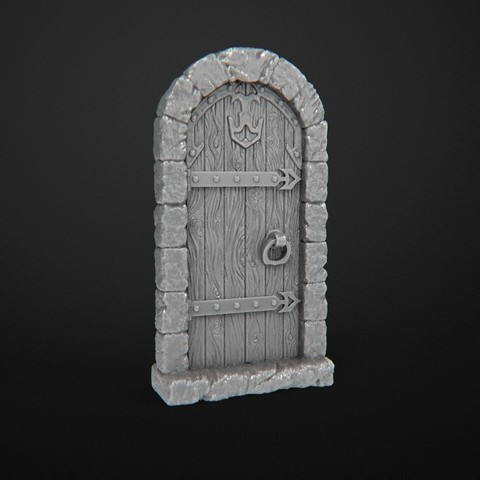 wooden_door_no_flares.JPG Download free STL file Dungeon Doors (Close) • 3D printer design, 3DRune