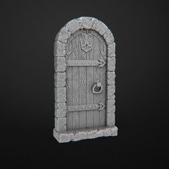 Download free 3D printing templates Dungeon Doors (Close), 3DRune