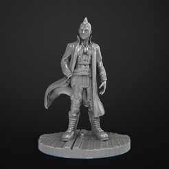 Download 3D printer files Cyberpunk Male Miniature 28mm, 3DForge
