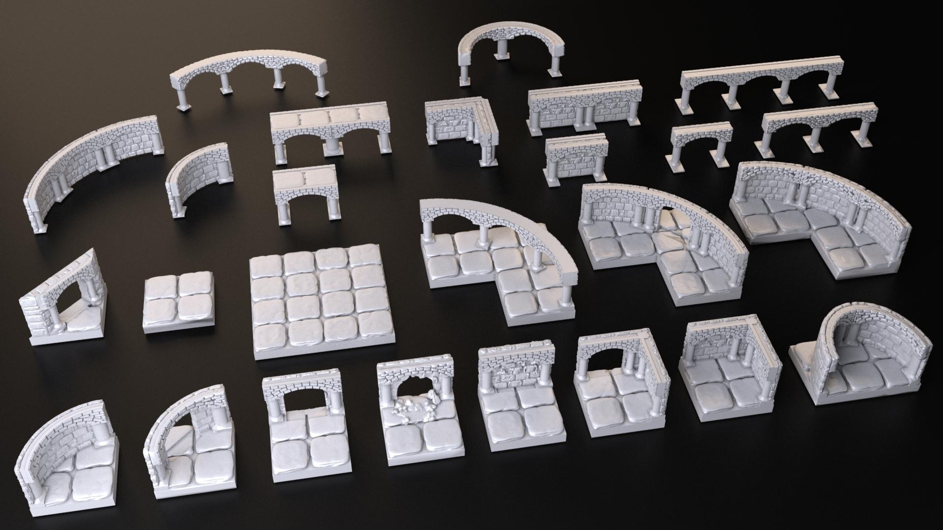 OpenForge.jpg Download free OBJ file Dungeons Tile Set • 3D printing object, 3DRune