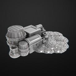 Tesours.jpg Télécharger fichier OBJ gratuit Trésor • Design imprimable en 3D, 3DRune