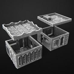 2019-08-M.jpg Télécharger fichier STL Ensemble cyberpunk de banlieue - Bâtiment • Modèle pour imprimante 3D, 3DRune