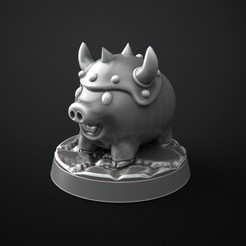 Free 3D print files super dungeon explore pig, 3DForge