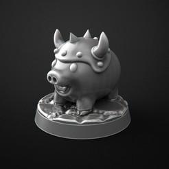 Modelos 3D para imprimir gratis super dungeon explore pig, 3DForge