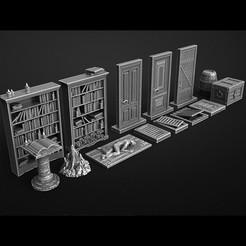 Download OBJ file furniture for mansion of madness • 3D printable design, 3DRune