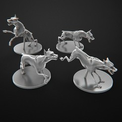 Download free 3D printer files Zombie Dogs Zombicide. Perros Zombie Zombicide, 3DForge