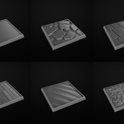 Download free OBJ file Square Base Miniatures. Peanas Cuadradas Miniaturas • Model to 3D print, 3DRune