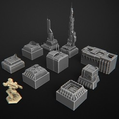 Download 3D model terrain futuristic warhammer battletech 7mm, 3DForge